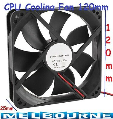 120mm x25mm 2Pin CPU Cooling Fan 12V DC PC Computer Cooler Quality Radiator Case