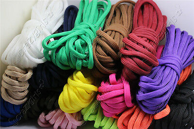 5/20/100Meter 4mm 7-Strand Lanyard Rope Nylon Parachute Cord Survival Camping S