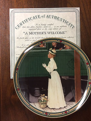 "NIB Knowles Norman Rockwell ""A MOTHER'S WELCOME"" Collector Plate"