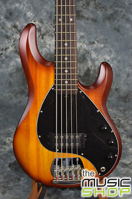 New Sterling SUB Series RAY5 Honeyburst 5 String Bass Guitar by Music Man -RAY 5