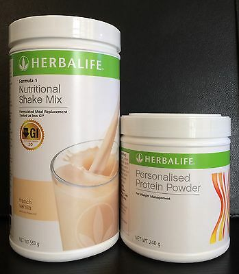 1 Herbalife Formula 1 (F1) and 1 Personal Protein Powder 100% Australian Product