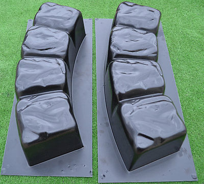 2 MOLDS 47.2 inch ROUND EDGE STONE CONCRETE MOLD Edging Border ABS Plastic#BR04