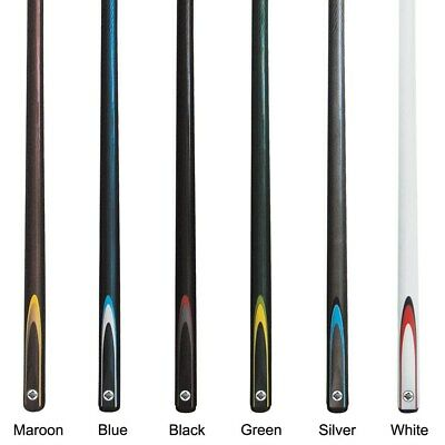 "Pool Snooker Billiard Cue Stick Graphite FLURO 57"" 2 Piece Choose Colour GIFT"