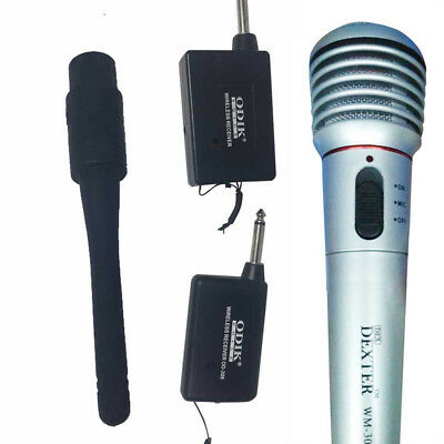 FM Dual-Use Handheld Wired Microphone Wireless Microphone Receiver System 2017