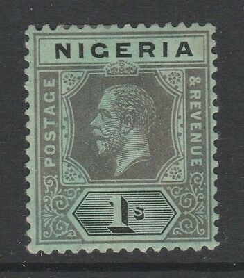 1914 Nigeria 1/- Black On Green Stamp – Mh