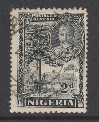 1936 NIGERIA 2d BLACK STAMP – USED