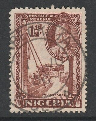 1936 NIGERIA 1-1/2d BROWN STAMP – USED