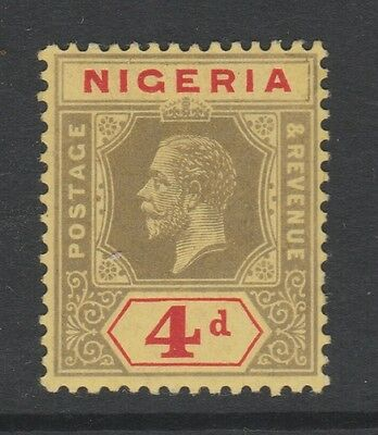 1914 NIGERIA 4d BLACK/RED ON YELLOW STAMP – MLH