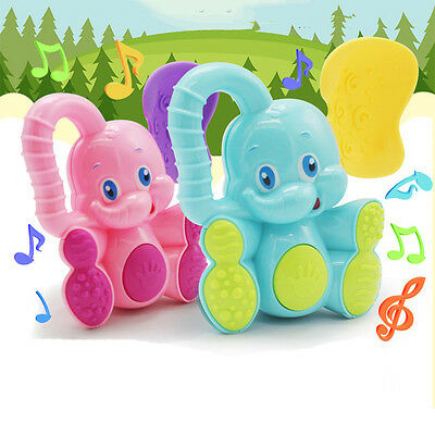 1set Cute Deer Elephant Animals Plastic Baby Toys Hand Rattle Xmas Birthday Toy