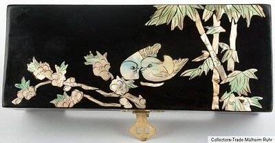 China 20. Jh. Schmuckschatulle A Chinese Black Lacquer Jewelry Box Cinese Chine