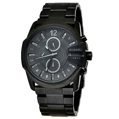 Diesel Men's Black out chronograph Watch | NEW