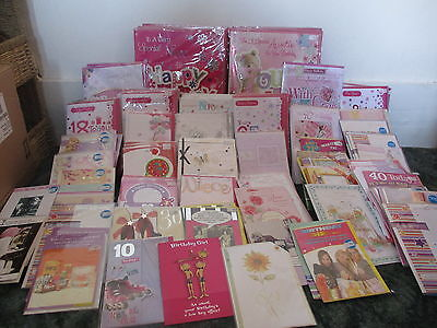 JOB LOT Greetings Cards Female Birthday Cards - Mum Nan Daughter sister etc