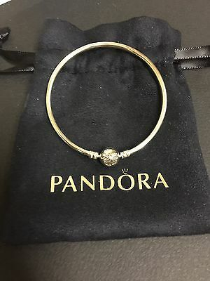 Authentic Pandora Limited Edition sterling silver BOW bangle 21cm