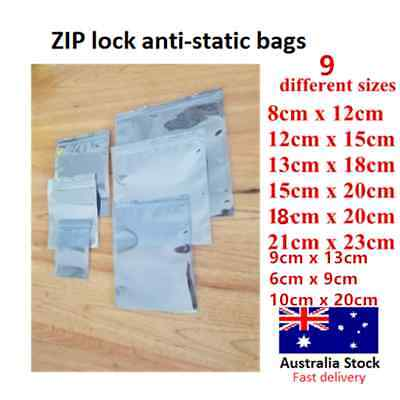 Zip lock Anti static bag static shielding bag ESD protection different sizes