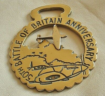 A Collectable Horse Brass - Battle Of Britain 50Th Anniversary - Ltd Edition