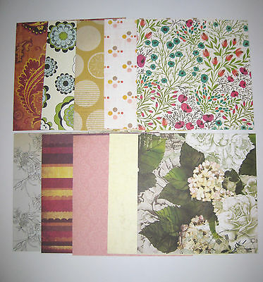 """Kaisercraft Card Scrapbooking Craft Paper 6X6"""" 10 Sheets Double Sided"""