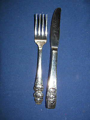 1984 Oneida American Greetings Tender Heart Care Bear Youth Fork & Knife RARE!!