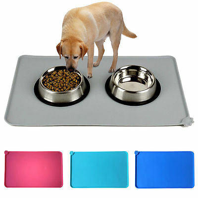 Silicone Pet Dog Puppy Cat Feeding Mat Pad Dish Bowl Mat Food Feed Placemat