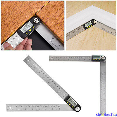 "7"" Electronic Protractor Digital Goniometer Angle Finder Gauge Ruler 1PCS SU1"