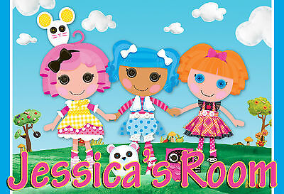Personalized Customized Lalaloopsy Name Poster Wall Art
