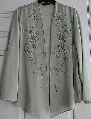 R M Richards Dress w Jacket Size 18 Sage Green Mother of the Bride