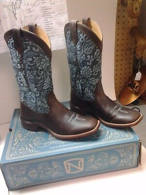 New women's all around boots western cowboy boot square toe size 9 regular rodeo