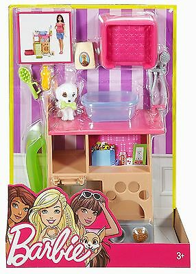 Barbie Indoor Accessory Furniture - Pet Station & Puppy Playset - DVX50 - NEW