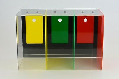 Charity / School Token / Counter Collection Box - 3 Sections