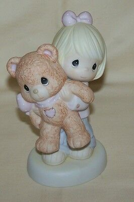 "Enesco Precious Moments ""This Bears My For You"" Girl Figurine 2005 4004371"