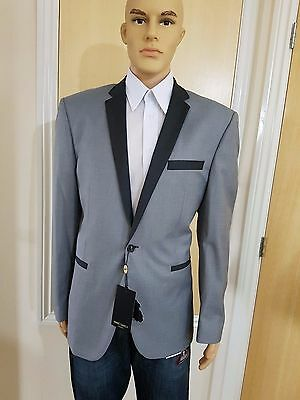 Marc Darcy Grey Tailored Blazer Formal Dinner Jacket or Casual Size 46