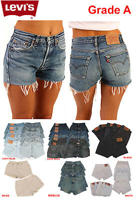 Levis High Waisted Hotpants Denim Shorts Jean Grade A - Size 6 8 10 14 16 18