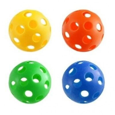 4pc Plastic Wiffle Ball Set - Baseball Size - Great Dog Toy. JM. Free Delivery