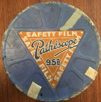 """Rare Vintage 9.5mm Film Reel - """"Ham The Fly Fisher"""" 1934 Comedy, 200ft Metal"""