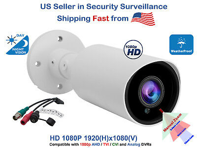 1080p HD Night Vision Outdoor Bullet CCTV Security Camera AHD TVI CVI Analog