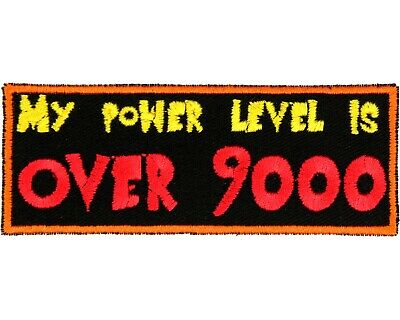 My Power Level Is Over 9000 Patch - Dragonball Z Patch - DBZ Patch - Anime Patch