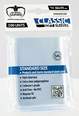Ultimate guard - CLASSIC SOFT SLEEVES for TCG - Standard Size MTG, Pokemon, etc.