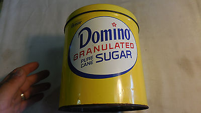 Domino Sugar Metal Tin Canister with Lid