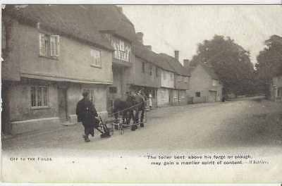 Horse Postcard - COURT-Heavy Horses and farmer of to the Fields