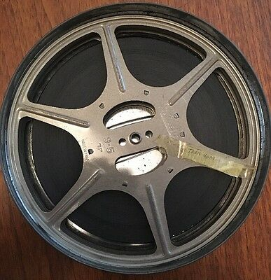 "Rare Pathescope 9.5mm Film Reel ""Taxi Barons"" 1948 Comedy, 400ft Metal Reel"