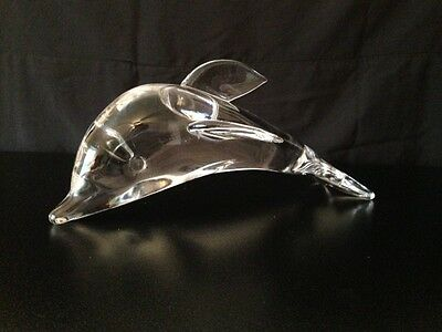 Beautiful Excellent Cond. Cien Crystal Dolphin NO RESERVE AUCTION! Clear RARE