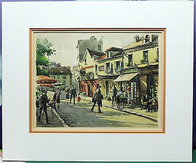 "Vintage Lithograph/Print - Signed in Plate By French Painter ""Seguie"" - Paris"