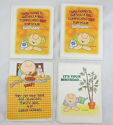 Vintage Ziggy Birthday Greeting Card Lot of 4 Funny by Tom Wilson 1970s