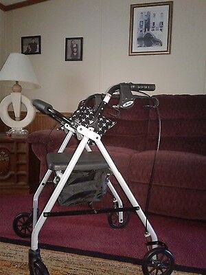 Drive rollator walker with brakes, seat and stoage. Like brand new EUC