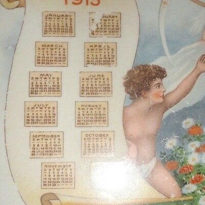 Antique Plate Compliments Sisquoc Mercantile 1915 Calender By Edwin Knowels Chin