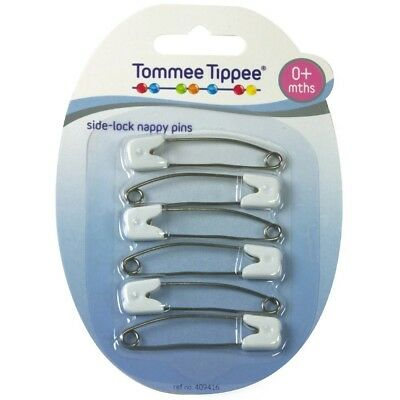 Tommee Tippee Slide Lock Nappy Pins. Brand New
