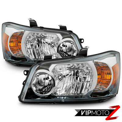 2004-2006 Toyota Highlander Sport Hybrid [FACTORY STYLE] Headlights Lamps Pair