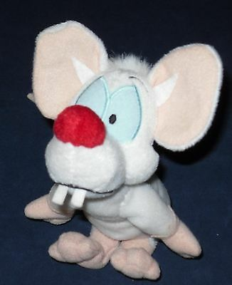 "Pinky From Pinky & The Brain Animaniacs Plush 7"" Tall While Sitting"