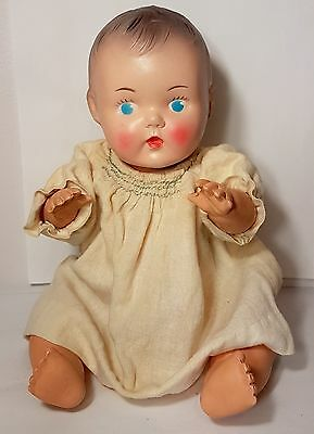 """Vintage 1954 VICEROY Sunruco Rubber Toy Baby Doll Canada 11"""" Super RARE VHTF"""
