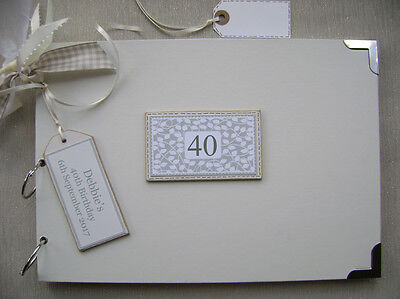 Personalised. 40Th Birthday A4 Size.photo Album/Scrapbook/Memory Book.