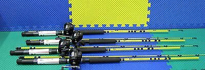 EAGLE CLAW SF400 7 ft 6 in ROD with OKUMA MAGDA MA 20D REEL Spooled COMBO 4 PACK